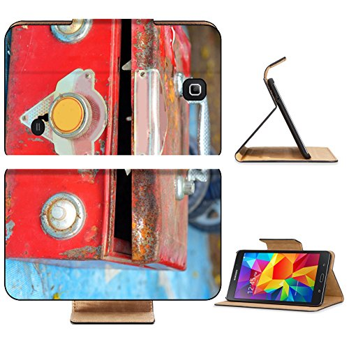 Liili Premium Samsung Galaxy Tab 4 7.0 Inch Flip Pu Leather Wallet Case IMAGE ID 33316167 Close up of safe lock vintage style (Sprint Loc compare prices)