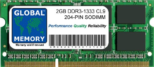 2GB DDR3 1333MHz PC3-10600 204-PIN SODIMM ARBEITSSPEICHER F&#220;R INTEL IMAC (MID 2010 - MID/LATE 2011)
