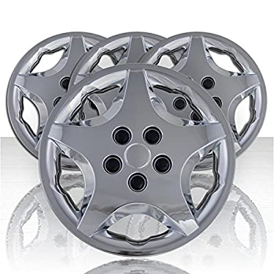 """Set of Four 14"""" Chrome ABS Wheel Covers for 2000-2005 Chevy Cavalier (Push-on)"""