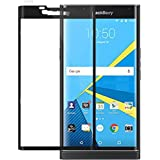 BlackBerry PRIV Screen Protector, BONGEEK Edge-to-Edge Full Coverage Tempered Glass Screen Protector [9H Hardness Featuring Anti-Scratch] [Ultra High Definition Invisible] - Black
