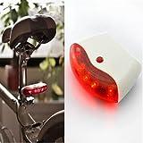 2012 Wireless Bike Bicycle 5 Led Intelligent Sensors Tail Lamp Brake Light with G-sensor