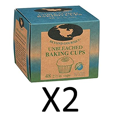 """(Pack of 2) Beyond Gourmet Paper Baking Cups 2½"""" (48/Box)"""