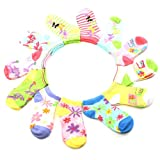 12 Pairs Cotton Summer Prints Colorful Cut Ankle Casual Socks Set Girls Age 4-6
