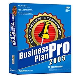 Business plan pro 2005 forecast