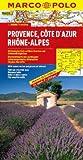 Frankreich - 1:300000: MARCO POLO Regionalkarte Provence/Côte d´Azur/Rhône-Alpes: TEIL 8 - Mairdumont