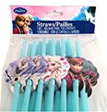 Disney Frozen disposable Straws Party with Elsa Anna & Olaf (18 straws per pack)
