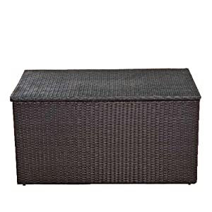 auflagenbox kissenbox gartentruhe l polyrattan schwarz. Black Bedroom Furniture Sets. Home Design Ideas