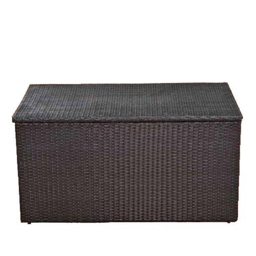 kissenbox aus polyrattan 204x94x75cm in braun marmoriert. Black Bedroom Furniture Sets. Home Design Ideas
