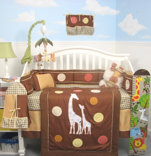 Popular SoHo Tall Tales Giraffe Baby Crib Nursery Bedding Set pcs