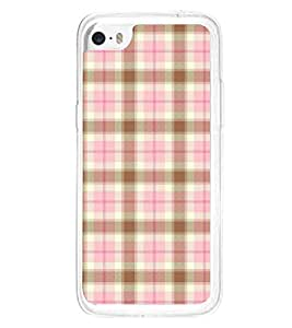 Fuson Premium Pink Cheques Metal Printed with Hard Plastic Back Case Cover for Apple iPhone 5C