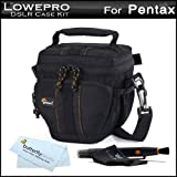 516EJ5FMcxL. SL160  Lowepro Compact DSLR Case / Bag Kit For Pentax K 30, K30, K 5, K r, K x DSLR Digital Camera Includes Lowepro Adventura Top Loading TLZ 15 Bag / Case   Black + LensPen Cleaning Kit + MicroFiber Cleaning Cloth