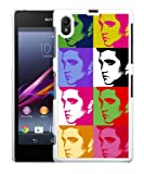 Sony Xperia Z1 Elvis Presley Pop Art Case/Cover + Screen Protector