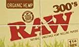 FIVE PACKS (1500 total papers) RAW 300s Organic Cigarette...