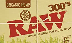 FIVE PACKS (1500 total papers) RAW 300s Organic Cigarette Rolling Papers 1 1/4 Size