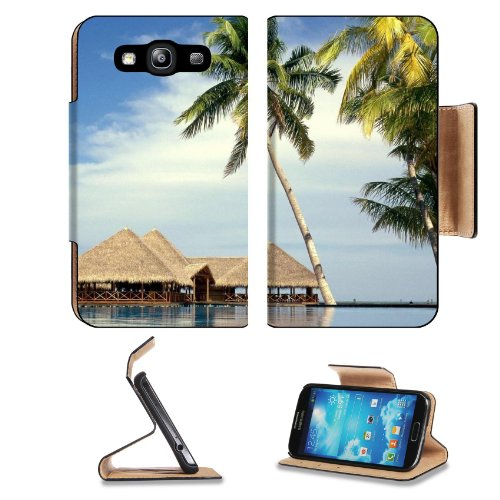 Maldives Entertainment Center Beach Resort Geography Asia Travel Samsung Galaxy S3 I9300 Flip Cover Case With Card Holder Customized Made To Order Support Ready Premium Deluxe Pu Leather 5 Inch (132Mm) X 2 11/16 Inch (68Mm) X 9/16 Inch (14Mm) Liil S Iii S