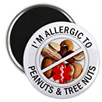 Medical Alert ALLERGIC TO MILK Medical Alert 2.25 inch Fridge Magnet from Creative Clam
