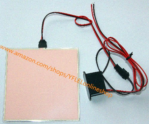 10X10Cm El Backlight, El Panel + Dc12V Control + (White)