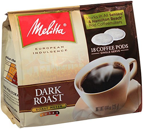 Melitta Coffee Pods for Senseo and Hamilton Beach Pod Brewers, Dark Roast , 4.44-Ounce,(Pack of 6) (Melita European Roast compare prices)