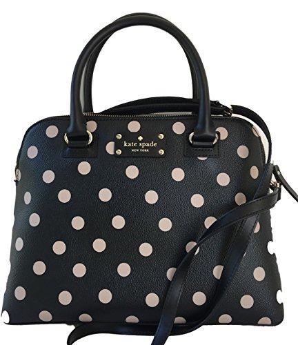 Kate Spade New York Wellesley Printed Small Rachelle Satchel Handbag Purse (Black/Decobeige) (Kate Spade Tops compare prices)