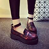 レディース オックスフォード シューズ 厚底 アンクルストラップ 革靴 ブーティ ランキングお取り寄せ