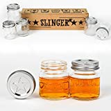 THE SLINGER - 5 Mason Jar Shot Glasses with Lids