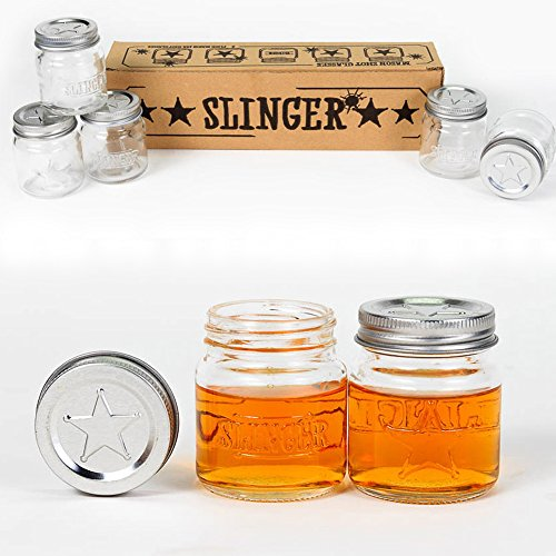 Mini Mason Jar Shot Glasses with Lids