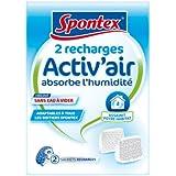 Spontex  2 Recharges pour absorbeurs d'Humidité Activ'Air