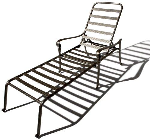 Strathwood St Thomas Cast Aluminum Chaise Lounge Chair