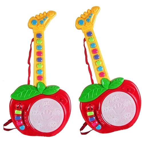 Kids Child Early Learning Education Musical Instruments Apple Shape Guitar Toys Red