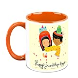 HomeSoGood Happy Friendship Day White Ceramic Coffee Mug - 325 Ml