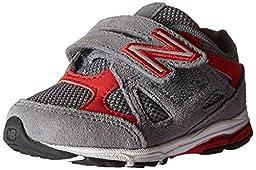 New Balance KV888V1 Infant Running Shoe (Infant/Toddler), Grey/Red, 6.5 W US Toddler