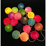 My Party Festival Decoration Lighting Cotton Thread Balls / Decoration String Lights / Handmade Diwali Thailand...