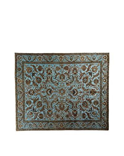 CarpeTrade Teppich Deluxe Persian Vintage blau/mehrfarbig