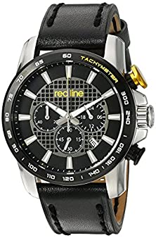 buy Red Line Men'S 'Fastrack' Quartz Stainless Steel And Black Leather Casual Watch (Model: Rl-300-01-Ya-Bb)