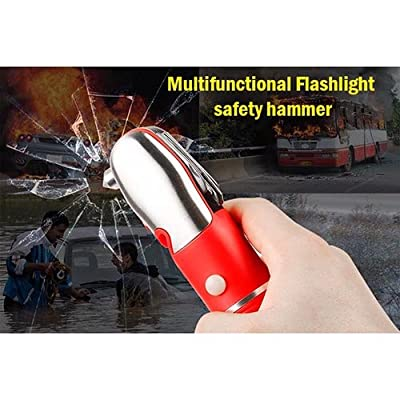 KOCASO Multi Function 13-In-1 Vehicle Car Emergency Kit- Flashlight, Safety Hammer, Safety Cutter, Scissors, Bottle Cap Opener, And Many More. Essential Rescue Disaster Escape Survival Tool Kit- Red from GPCT