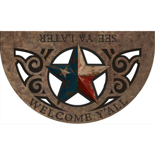 """Texas Star, Masterpiece """"See Ya Later"""" Doormat (Lone Star State)"""
