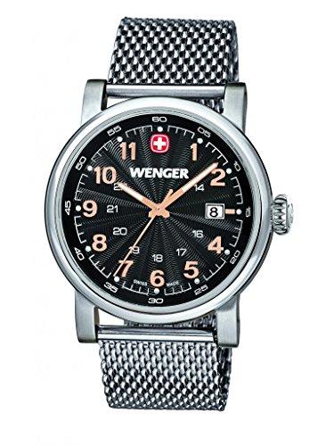 Wenger - 011041106 - Montre Homme - Quartz - Analogique - Bracelet Acier Inoxydable Argent