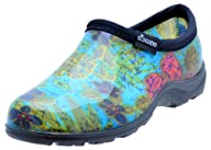 "Sloggers  Women's Rain and Garden Shoe with ""All-Day-Comfort"" Insole, Midsummer Blue Print – Wo's…"