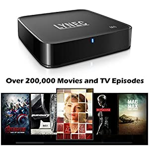 LYNEC M6 Quad Core Android TV Box + Pre-loaded XBMC/KODI 14.1 + OTA update Android 4.4.2 TV Box 3D-HD 1080P Streaming Media Player Netflix Youtube (Updated Version)