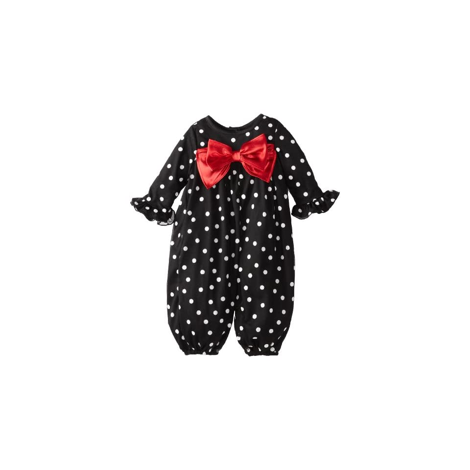 Rare Editions Baby Baby Girls Dot With Red Bow Party Pant
