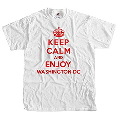 ShirtScope Keep Calm and Enjoy Washington DC T shirt Funny Tee