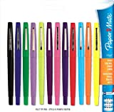 Paper Mate Flair Point-Guard Porous Point Pens, 12 Colored Pens