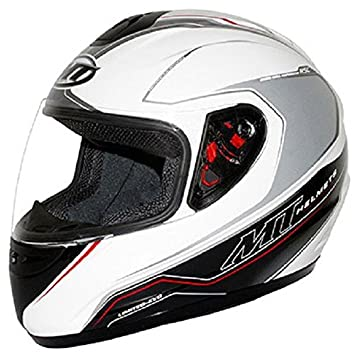Casque moto intégral MT THUNDER LIMITED EVO - Blanc / Noir
