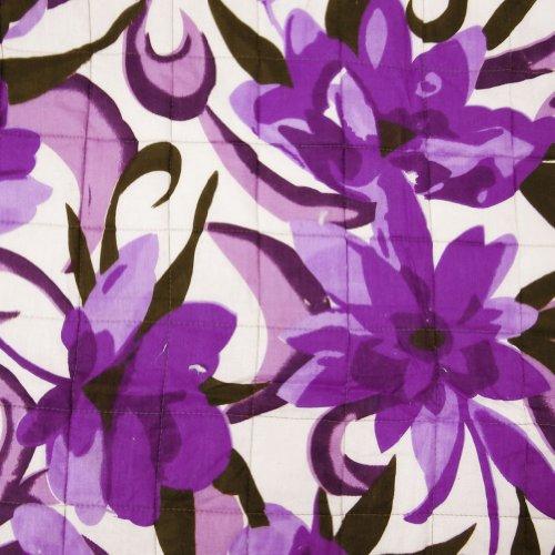 Blanco hecho a mano del bebé del edredón estampado de flores Cuna Algodón Tamaño sábana Décor casero Reversible Bedspread50