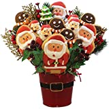 Art of Appreciation Gift Baskets Santas Christmas Holiday Cookie and Candy Bouquet Gift Set