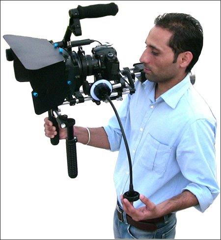 Proaim Kit-20(C) Shoulder Rig Cage Follow Focus Sunshade Bundle With Complimentary Dairy