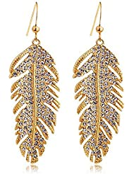 Silver Shoppee Dreamy Me 18K Yellow Gold Plated Cubic Zirconia Studded Alloy Earrings