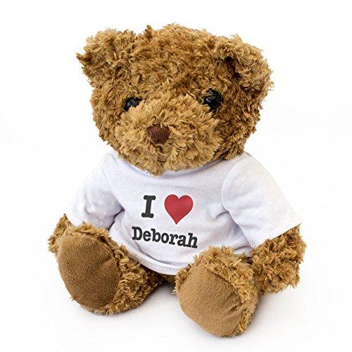 Nouveau-I Love Deborah-Teddy Bear-mignon et câlin-Cadeau Anniversaire Noël Valentine