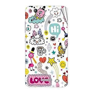 Garmor Designer Mobile Skin Sticker For Gionee F301 - Mobile Sticker