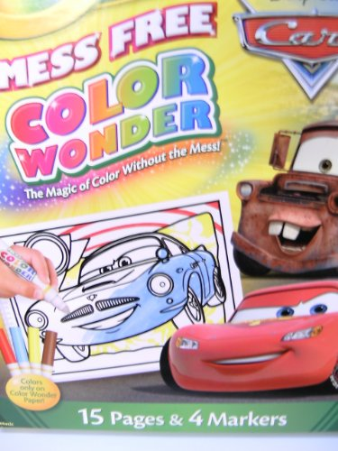 Crayola Mess Free Color Wonder Disney Pixar Coloring Pad (15 Pages & 4 Markers)